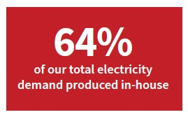 In house electricity production