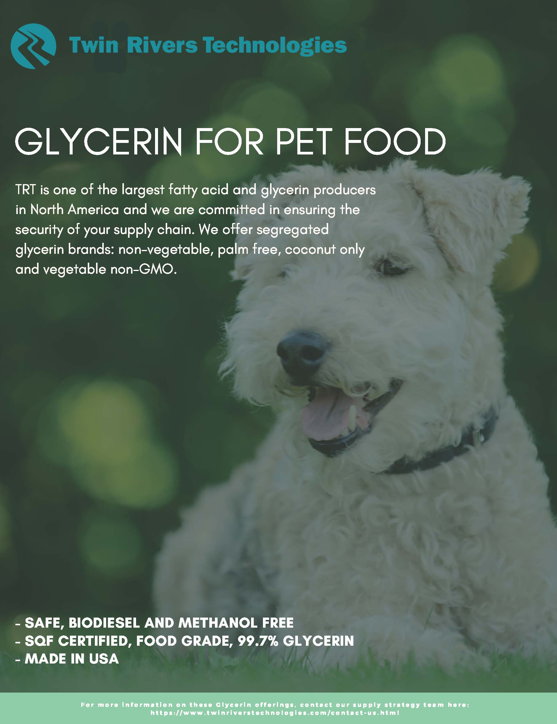Twin Rivers Technologies Pet Food Glycerin Flyer