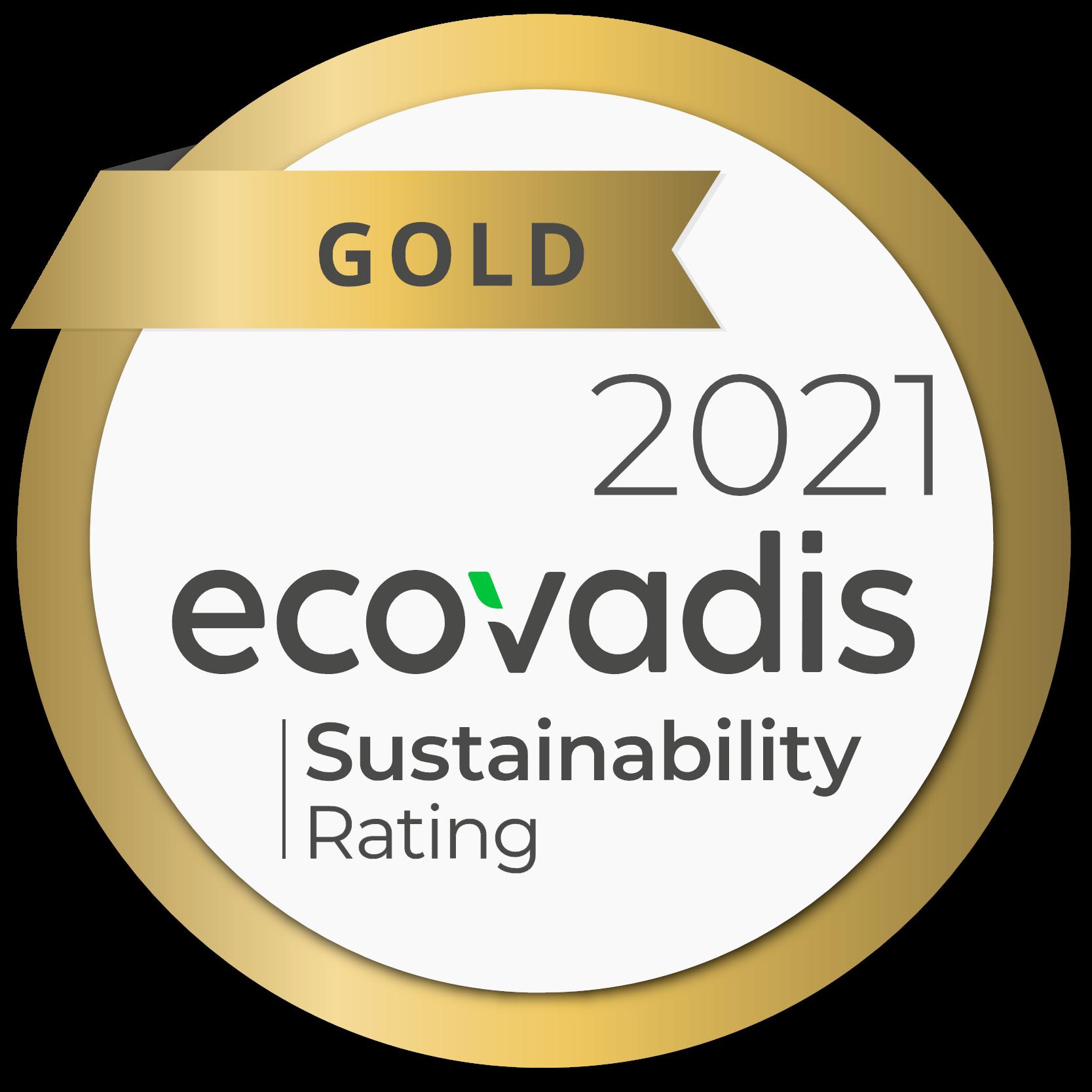 Ecovadis Gold Rating: Sustainability